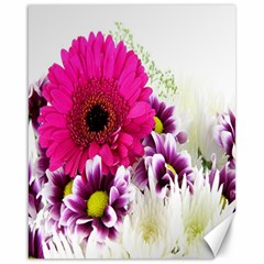 Pink Purple And White Flower Bouquet Canvas 16  x 20