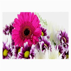 Pink Purple And White Flower Bouquet Large Glasses Cloth