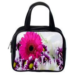 Pink Purple And White Flower Bouquet Classic Handbags (one Side)