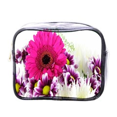 Pink Purple And White Flower Bouquet Mini Toiletries Bags