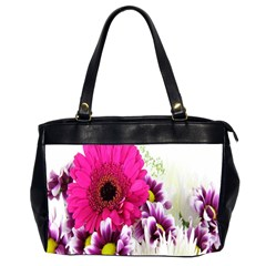 Pink Purple And White Flower Bouquet Office Handbags (2 Sides)