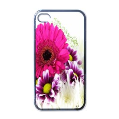 Pink Purple And White Flower Bouquet Apple iPhone 4 Case (Black)