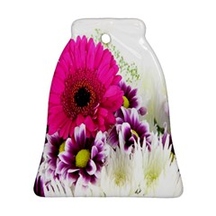 Pink Purple And White Flower Bouquet Bell Ornament (Two Sides)