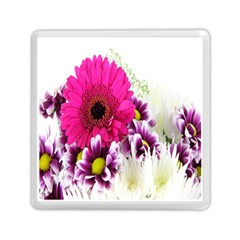 Pink Purple And White Flower Bouquet Memory Card Reader (square)