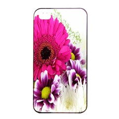 Pink Purple And White Flower Bouquet Apple iPhone 4/4s Seamless Case (Black)