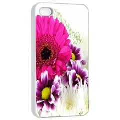 Pink Purple And White Flower Bouquet Apple Iphone 4/4s Seamless Case (white)