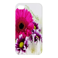 Pink Purple And White Flower Bouquet Apple iPhone 4/4S Premium Hardshell Case