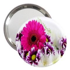 Pink Purple And White Flower Bouquet 3  Handbag Mirrors