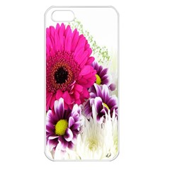 Pink Purple And White Flower Bouquet Apple Iphone 5 Seamless Case (white)