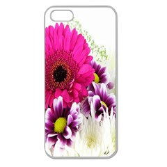 Pink Purple And White Flower Bouquet Apple Seamless iPhone 5 Case (Clear)