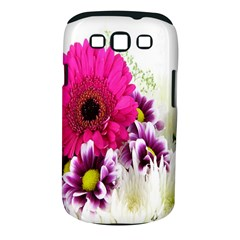 Pink Purple And White Flower Bouquet Samsung Galaxy S III Classic Hardshell Case (PC+Silicone)