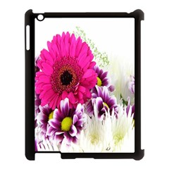 Pink Purple And White Flower Bouquet Apple iPad 3/4 Case (Black)