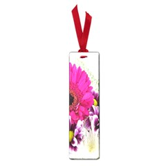 Pink Purple And White Flower Bouquet Small Book Marks