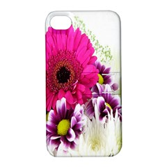Pink Purple And White Flower Bouquet Apple iPhone 4/4S Hardshell Case with Stand