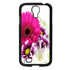 Pink Purple And White Flower Bouquet Samsung Galaxy S4 I9500/ I9505 Case (Black)