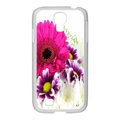 Pink Purple And White Flower Bouquet Samsung GALAXY S4 I9500/ I9505 Case (White)