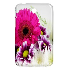 Pink Purple And White Flower Bouquet Samsung Galaxy Tab 3 (7 ) P3200 Hardshell Case