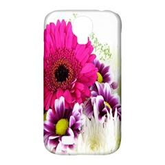 Pink Purple And White Flower Bouquet Samsung Galaxy S4 Classic Hardshell Case (PC+Silicone)