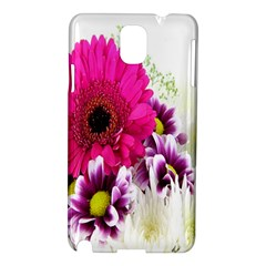 Pink Purple And White Flower Bouquet Samsung Galaxy Note 3 N9005 Hardshell Case