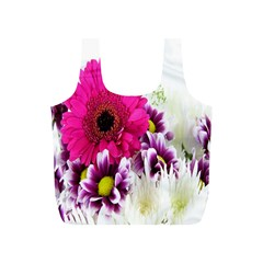 Pink Purple And White Flower Bouquet Full Print Recycle Bags (S)