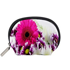 Pink Purple And White Flower Bouquet Accessory Pouches (small)