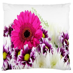 Pink Purple And White Flower Bouquet Large Flano Cushion Case (One Side)