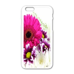 Pink Purple And White Flower Bouquet Apple iPhone 6/6S White Enamel Case