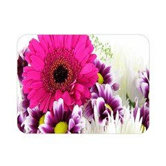 Pink Purple And White Flower Bouquet Double Sided Flano Blanket (Mini)