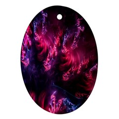 Abstract Fractal Background Wallpaper Ornament (oval)