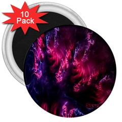 Abstract Fractal Background Wallpaper 3  Magnets (10 Pack)