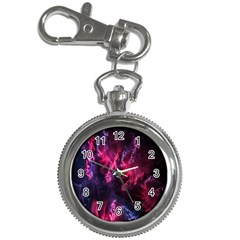 Abstract Fractal Background Wallpaper Key Chain Watches