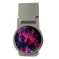 Abstract Fractal Background Wallpaper Money Clips (round)