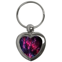 Abstract Fractal Background Wallpaper Key Chains (heart)