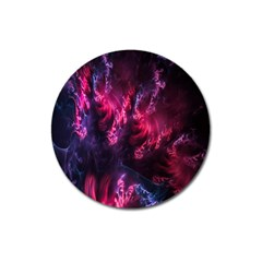 Abstract Fractal Background Wallpaper Magnet 3  (Round)