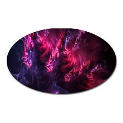 Abstract Fractal Background Wallpaper Oval Magnet
