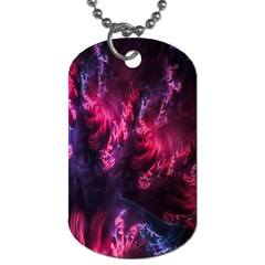 Abstract Fractal Background Wallpaper Dog Tag (one Side)