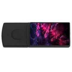 Abstract Fractal Background Wallpaper USB Flash Drive Rectangular (1 GB)