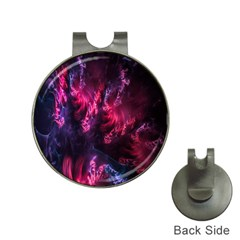 Abstract Fractal Background Wallpaper Hat Clips With Golf Markers