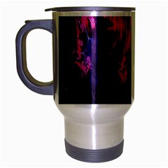 Abstract Fractal Background Wallpaper Travel Mug (Silver Gray)
