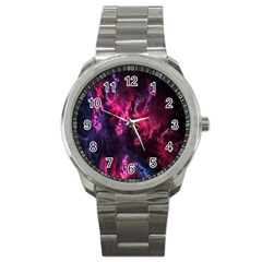 Abstract Fractal Background Wallpaper Sport Metal Watch