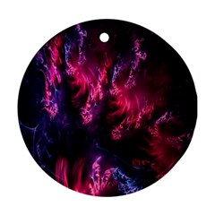 Abstract Fractal Background Wallpaper Round Ornament (Two Sides)