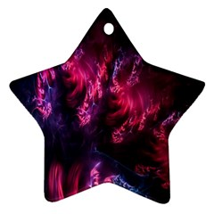 Abstract Fractal Background Wallpaper Star Ornament (two Sides)