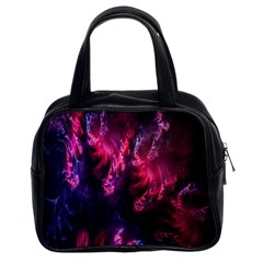 Abstract Fractal Background Wallpaper Classic Handbags (2 Sides)
