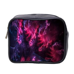 Abstract Fractal Background Wallpaper Mini Toiletries Bag 2 Side