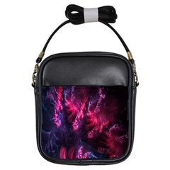 Abstract Fractal Background Wallpaper Girls Sling Bags