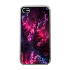 Abstract Fractal Background Wallpaper Apple Iphone 4 Case (clear)