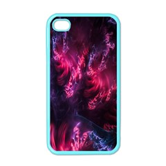 Abstract Fractal Background Wallpaper Apple iPhone 4 Case (Color)