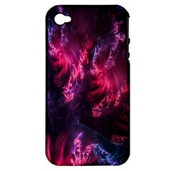 Abstract Fractal Background Wallpaper Apple iPhone 4/4S Hardshell Case (PC+Silicone)