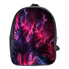 Abstract Fractal Background Wallpaper School Bags (XL)