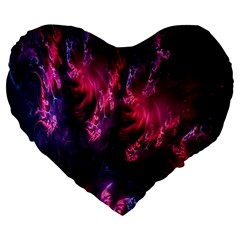 Abstract Fractal Background Wallpaper Large 19  Premium Heart Shape Cushions